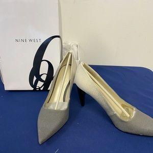 Nine West Grey to White Fade Heels